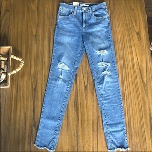 Levi's 720 high rise distressed skinny jeans